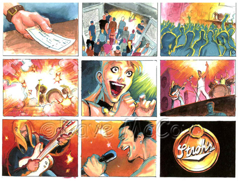 Dave Mccoy Illustration  Storyboards For Television Commercial